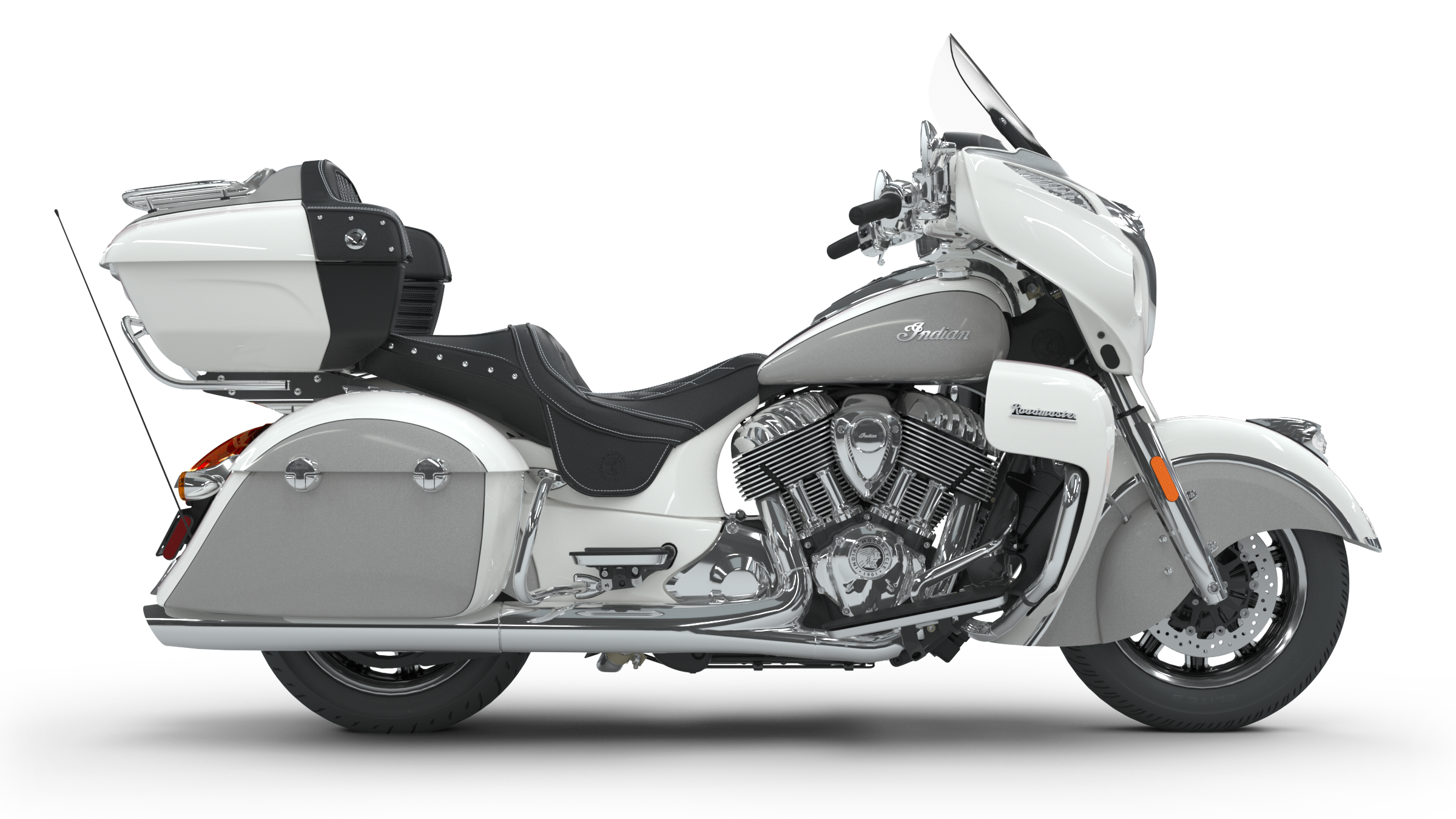 2018 Roadmaster Pearl White/ Star Silver - Indian Motorcycle